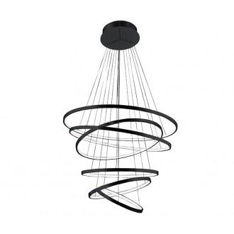 AZZARDO 2923 | Wheel Azzardo függeszték lámpa 1x LED 8400lm fekete, fehér