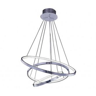 AZZARDO 2989 | Wheel Azzardo függeszték lámpa 1x LED 4800lm króm, fehér