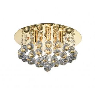 AZZARDO 3083 | Bolla Azzardo mennyezeti lámpa kerek 5x GU9 arany, kristály, tükör