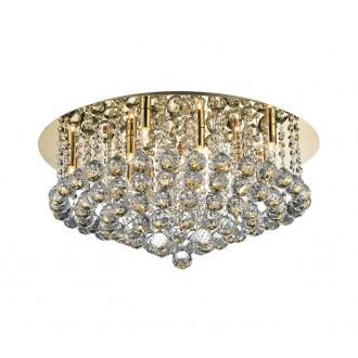 AZZARDO 3084 | Bolla Azzardo mennyezeti lámpa kerek 10x GU9 arany, kristály, tükör