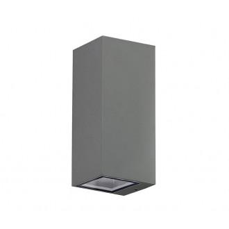 AZZARDO 3321 | Jake-AZ Azzardo fali lámpa téglatest 2x GU10 IP54 sötétszürke