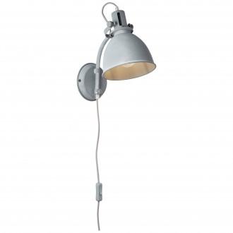 BRILLIANT 23710/70 | Jesper Brilliant falikar lámpa 1x E27 szürke, fehér