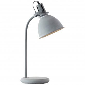 BRILLIANT 23749/70 | Jesper Brilliant asztali lámpa 57,5cm vezeték kapcsoló 1x E27 szürke, fehér