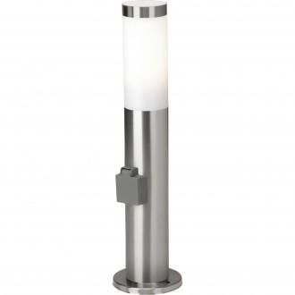 BRILLIANT 43693/82 | Chorus Brilliant álló lámpa 46cm konnektorlámpa 1x E27 IP44 nemesacél, rozsdamentes acél, fehér