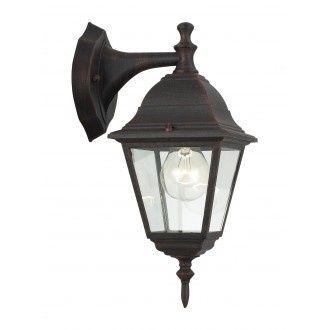BRILLIANT 44282/55 | NewportB Brilliant falikar lámpa 1x E27 IP23 rozsdabarna