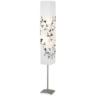 BRILLIANT 92603/81 | Nerva Brilliant álló lámpa 145cm taposókapcsoló 2x E14 matt nikkel, fehér, fekete