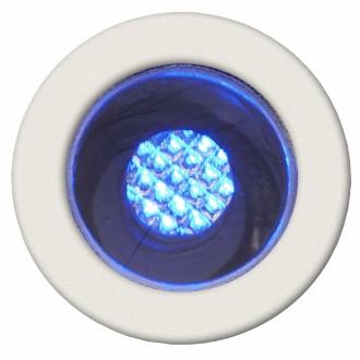 BRILLIANT G03090/73 | Cosa15 Brilliant beépíthető lámpa 10 darabos szett Ø15mm 15x15mm 10x LED IP44 nemesacél, rozsdamentes acél, kék