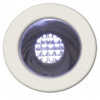 BRILLIANT G03090/82 | Cosa15 Brilliant beépíthető lámpa 10 darabos szett Ø15mm 15x15mm 10x LED 10lm 7500K IP44 nemesacél, rozsdamentes acél, fehér