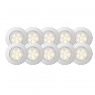 BRILLIANT G03094/75 | Cosa45 Brilliant beépíthető lámpa 10 darabos szett Ø45mm 45x45mm 10x LED 45lm 2700K IP44 nemesacél, rozsdamentes acél, meleg fehér