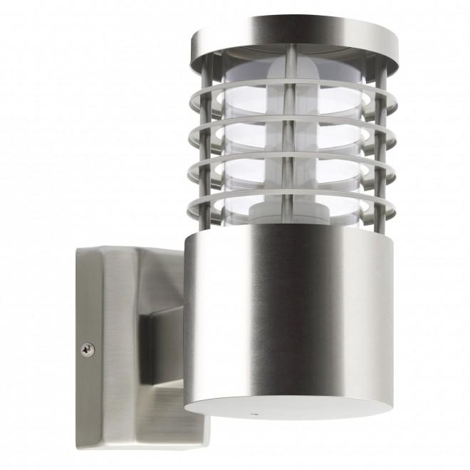 BRILLIANT G43281/82 | Finnigan Brilliant falikar lámpa henger 1x E27 IP44 nemesacél, rozsdamentes acél
