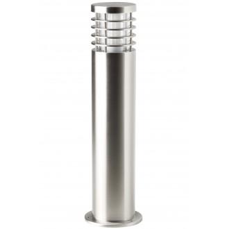 BRILLIANT G43284/82 | Finnigan Brilliant álló lámpa henger 50cm 1x E27 IP44 nemesacél, rozsdamentes acél