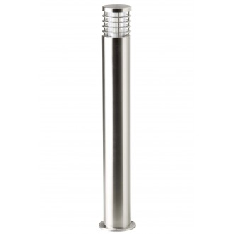 BRILLIANT G43285/82 | Finnigan Brilliant álló lámpa henger 80cm 1x E27 IP44 nemesacél, rozsdamentes acél