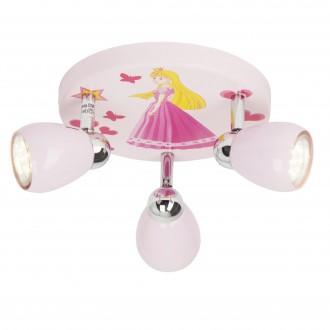 BRILLIANT G55934/17 | PrincessB Brilliant mennyezeti lámpa elforgatható alkatrészek 3x GU10 250lm 3000K pink