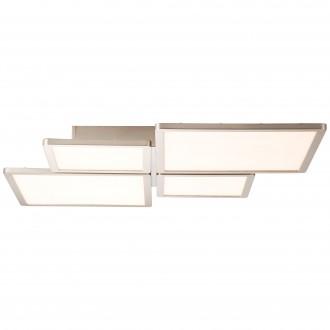 BRILLIANT G90179/68 | Scope-BRI Brilliant mennyezeti lámpa távirányító szabályozható fényerő 1x LED 4400lm 2700 <-> 6200K nikkel, fehér