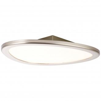 BRILLIANT G90192/68 | Stone-BRI Brilliant mennyezeti lámpa távirányító szabályozható fényerő 1x LED 2195lm 2700 <-> 6200K nikkel, fehér
