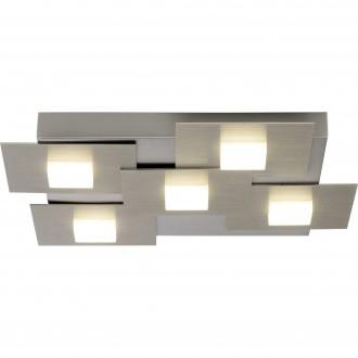 BRILLIANT G90236/13 | Numbers Brilliant mennyezeti lámpa három fokozatú kapcsoló 5x LED 2255lm 3000K szatén nikkel, fehér