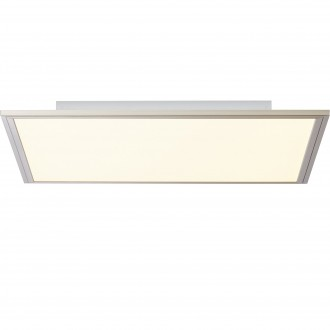 BRILLIANT G90299/68 | Flat-BRI Brilliant mennyezeti lámpa távirányító szabályozható fényerő 1x LED 2400lm 2700 <-> 6200K nikkel, fehér
