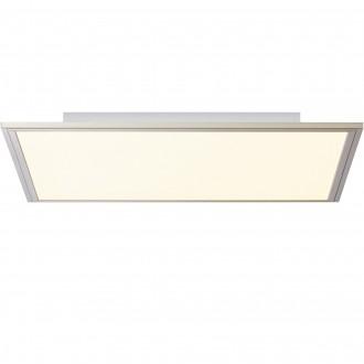 BRILLIANT G90300/68 | Flat-BRI Brilliant mennyezeti lámpa távirányító szabályozható fényerő 1x LED 3500lm 2700 <-> 6200K nikkel, fehér
