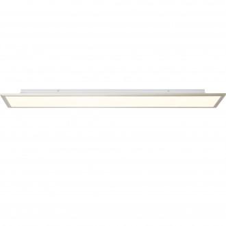 BRILLIANT G90301/68 | Flat-BRI Brilliant mennyezeti lámpa távirányító szabályozható fényerő 1x LED 4540lm 2700 <-> 6200K nikkel, fehér