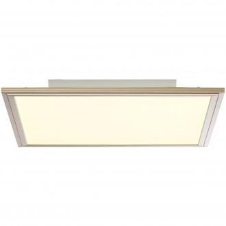 BRILLIANT G90313/68 | Flat-RGB Brilliant mennyezeti lámpa távirányító szabályozható fényerő 1x LED 2500lm 2700 <-> 6200K nikkel, fehér