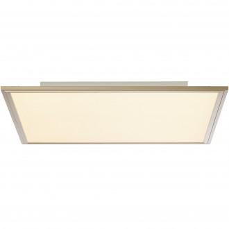 BRILLIANT G90314/68 | Flat-RGB Brilliant mennyezeti lámpa távirányító szabályozható fényerő 1x LED 3500lm 2700 <-> 6200K nikkel, fehér
