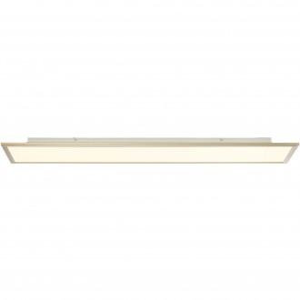 BRILLIANT G90315/68 | Flat-RGB Brilliant mennyezeti lámpa távirányító szabályozható fényerő 1x LED 4500lm 2700 <-> 6200K nikkel, fehér