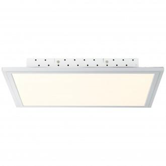 BRILLIANT G94395/05   FlatB Brilliant mennyezeti lámpa távirányító szabályozható fényerő 1x LED 2500lm 2700 <-> 6200K alumínium, fehér