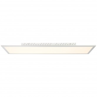 BRILLIANT G94397/05 | FlatB Brilliant mennyezeti lámpa távirányító szabályozható fényerő 1x LED 5000lm 2700 <-> 6200K alumínium, fehér