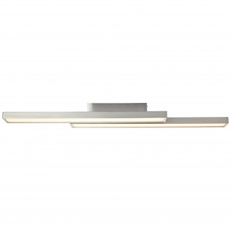 BRILLIANT G96814/68 | Sword-WiZ Brilliant mennyezeti lámpa szabályozható fényerő, színváltós 2x LED 1200lm 2700 <-> 6200K matt nikkel