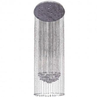 CHIARO 244016015 | Cascade Chiaro mennyezeti lámpa 15x GU10 8060lm 2700K szatén króm, kristály