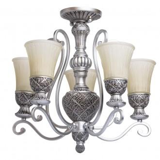 CHIARO 254013605 | Bologna-MW Chiaro mennyezeti lámpa 5x E27 3225lm antikolt ezüst, krémszín