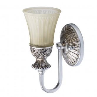 CHIARO 254021201 | Bologna-MW Chiaro falikar lámpa 1x E27 645lm antikolt ezüst, krémszín