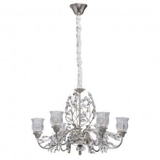 CHIARO 298012106 | Viola-MW Chiaro csillár lámpa 6x E14 2580lm ezüst, átlátszó, kristály