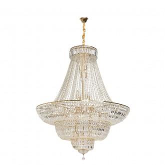 CHIARO 340011536 | Diana-MW Chiaro csillár lámpa 36x E14 15480lm arany, kristály