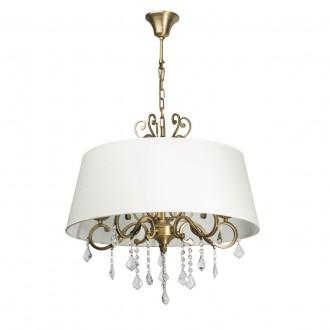 CHIARO 355011905 | Sofia-MW Chiaro függeszték lámpa 5x E14 3225lm sárgaréz, fehér, átlátszó