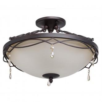 CHIARO 382010703 | Magdalena-MW Chiaro mennyezeti lámpa 3x E27 1935lm antikolt fekete, opál, kristály
