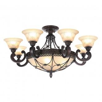 CHIARO 382012812 | Magdalena-MW Chiaro mennyezeti lámpa 12x E27 7740lm antikolt bronz, krémszín