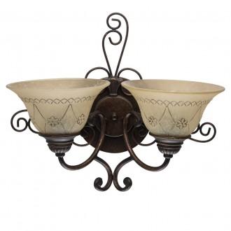 CHIARO 382022902 | Magdalena-MW Chiaro falikar lámpa 2x E27 1290lm antikolt bronz, krémszín