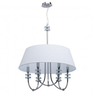 CHIARO 386010206 | Palermo-MW Chiaro mennyezeti lámpa 6x E14 2580lm króm, fehér, átlátszó