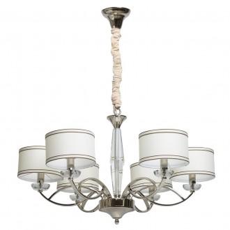 CHIARO 386014806 | Palermo-MW Chiaro csillár lámpa 6x E14 2580lm króm, fehér, átlátszó