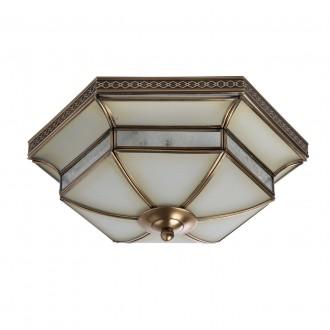 CHIARO 397010103 | Marquis Chiaro mennyezeti lámpa 3x E27 1935lm sárgaréz, átlátszó