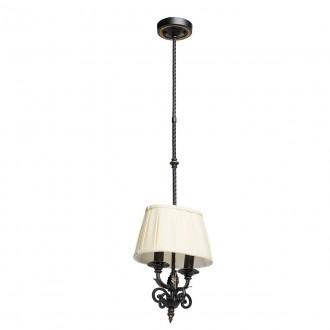 CHIARO 401010402 | Victoria-MW Chiaro függeszték lámpa 2x E14 1290lm antikolt fekete, krémszín