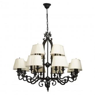 CHIARO 401010624 | Victoria-MW Chiaro csillár lámpa 24x E14 15480lm antikolt fekete, krémszín