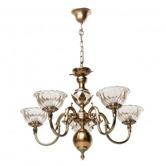 CHIARO 411010905 | Paula-MW Chiaro csillár lámpa 5x E27 3225lm antikolt réz, bronz topaz