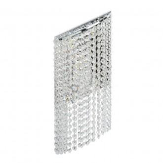 CHIARO 437022105 | Clarissa-MW Chiaro fali lámpa 1x LED 1320lm 3200K króm, kristály