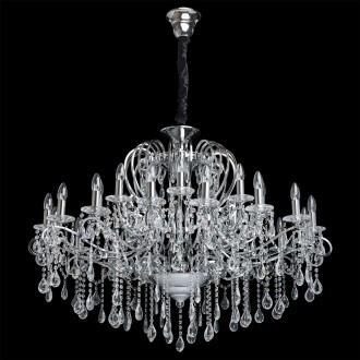 CHIARO 458010524 | Suzanne-MW Chiaro csillár lámpa 24x E14 10320lm króm, kristály, átlátszó