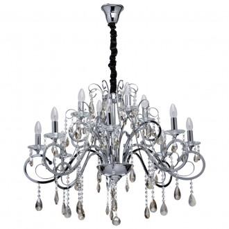 CHIARO 458011012 | Suzanne-MW Chiaro csillár lámpa 12x E14 5160lm króm, kristály, pezsgő