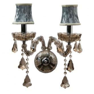 CHIARO 475020402 | Ivelina Chiaro falikar lámpa 2x E14 1290lm króm, füst, bronz topaz