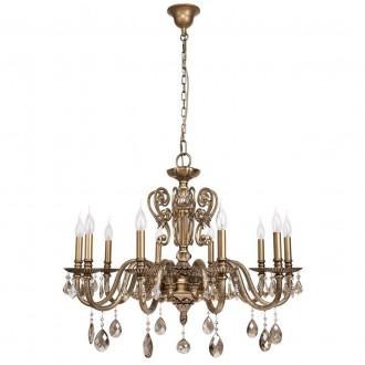 CHIARO 491011110 | Gabriel-MW Chiaro csillár lámpa 10x E14 6450lm antikolt réz, bronz topaz