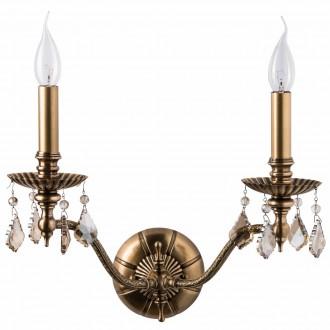 CHIARO 491021302 | Gabriel-MW Chiaro falikar lámpa 2x E14 1290lm antikolt réz, bronz topaz